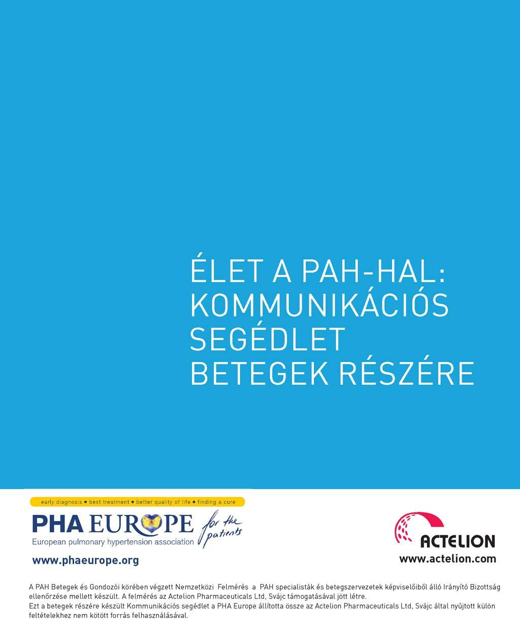 Élet a PAH-hal: Kommunikációs segédlet betegek részére