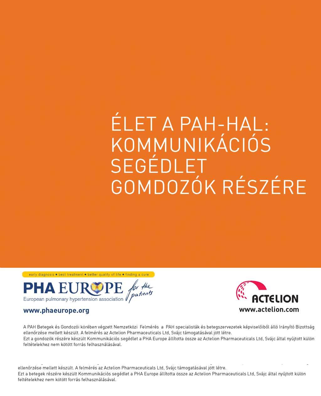 Élet a PAH-hal: Kommunikációs segédlet gondozók részére